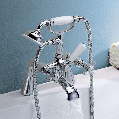 Brook Bath Shower Mixer with Shower Kit - By Voda Design