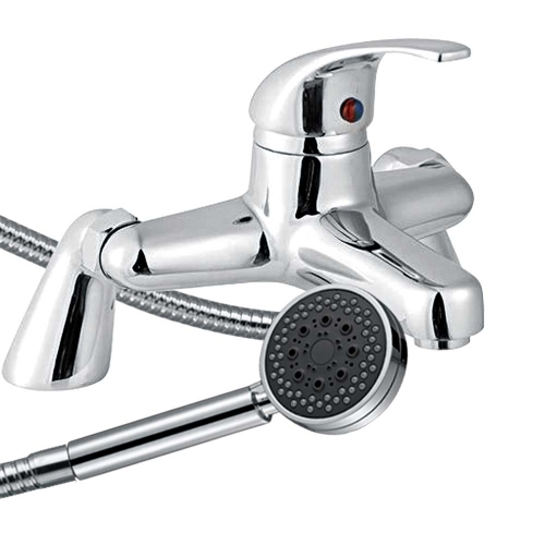 Ribble Bath Shower Mixer with Shower Kit - By Voda Design